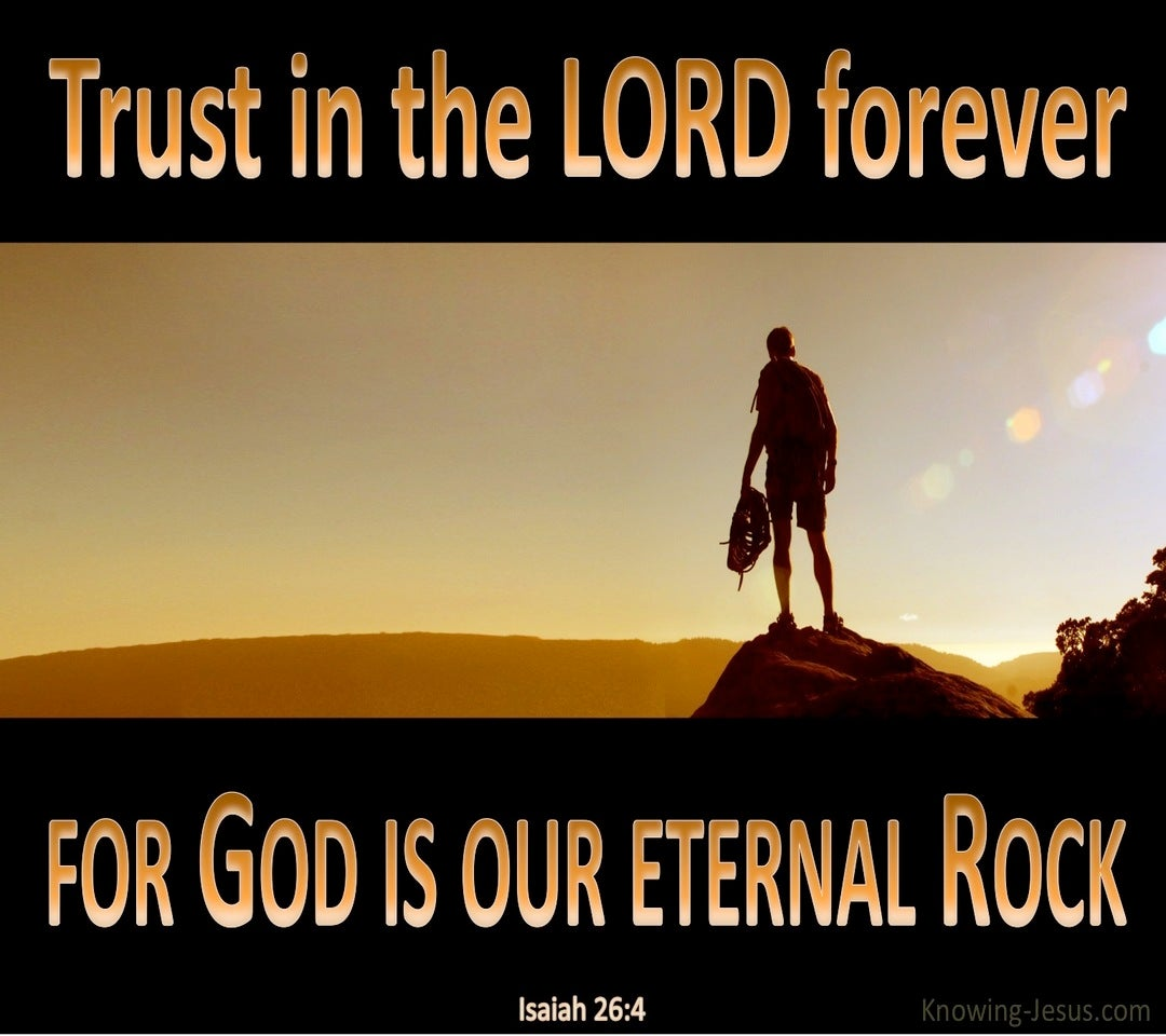 Isaiah 26:4 Trust in the Lord Forever (black)
