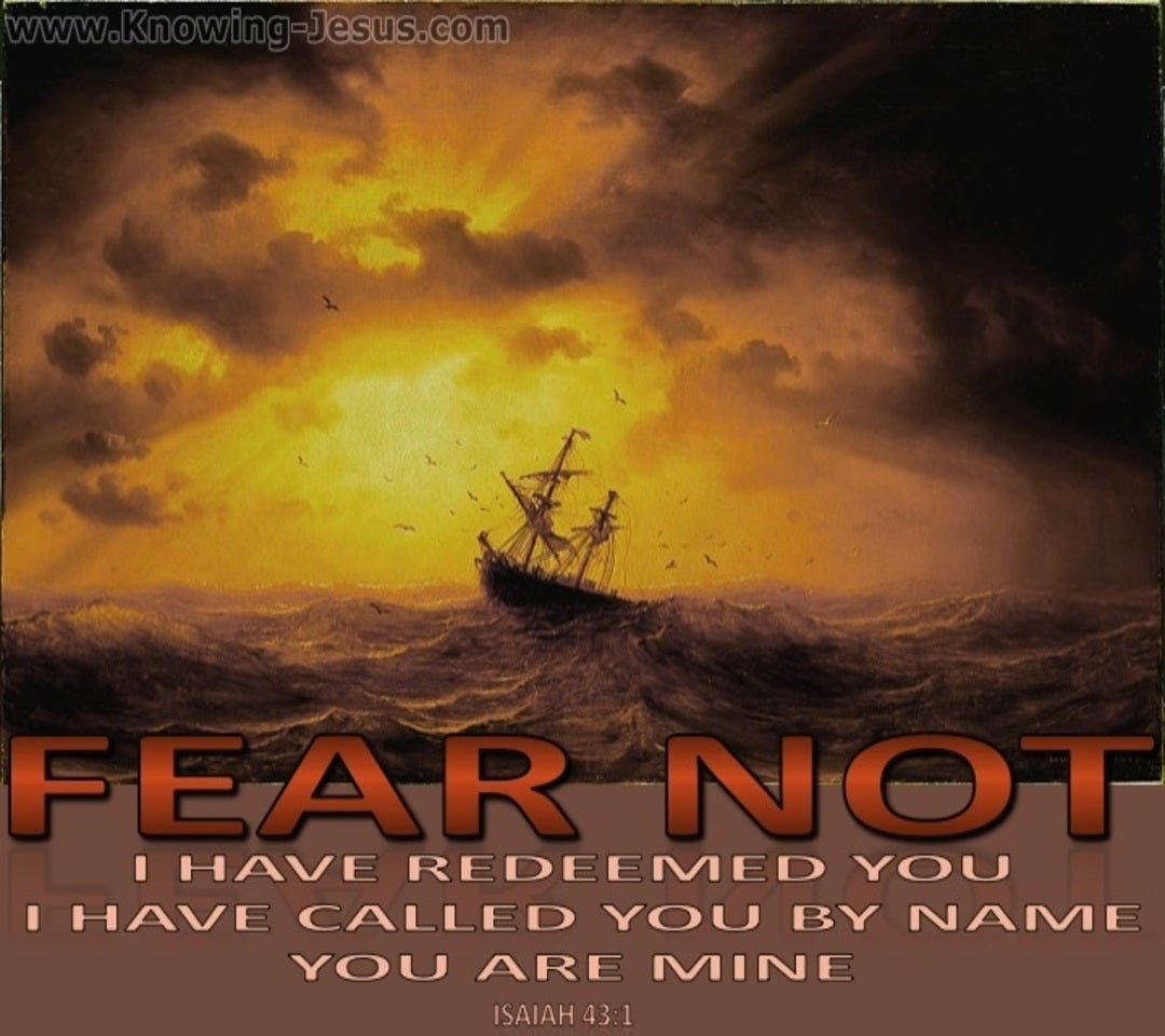 Isaiah 43:1 Fear Not I Have Redeemed You (brown)