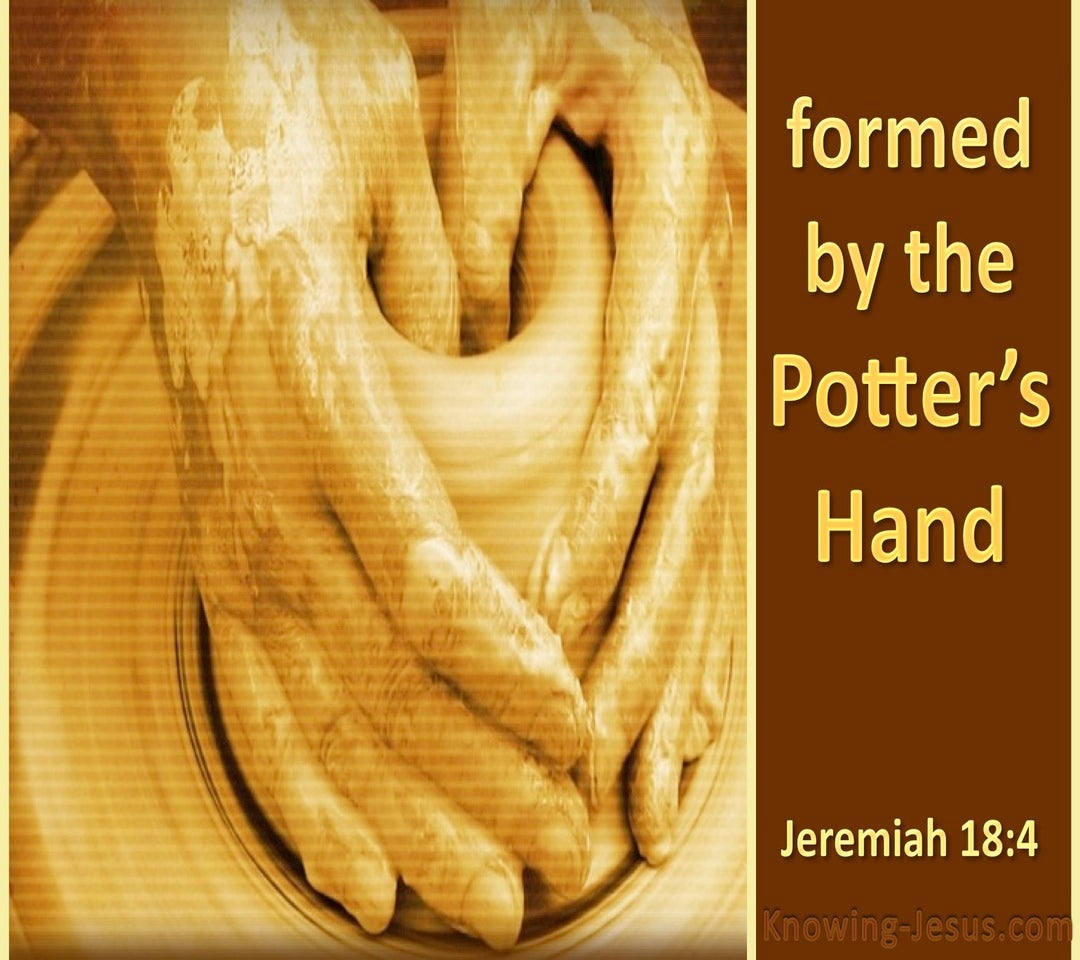 Jeremiah 18:4 God Remade Another Vessel (beige)