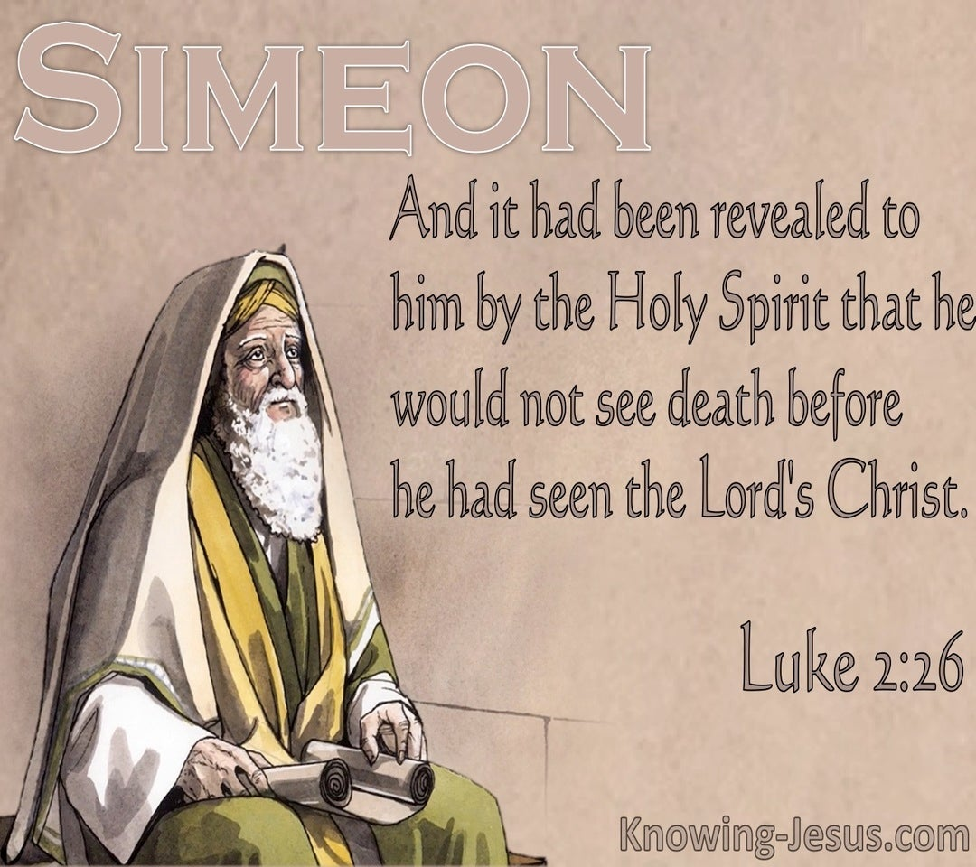 Luke 2:26 He Would Not See Death Before Seeing The Lords Christ (beige)