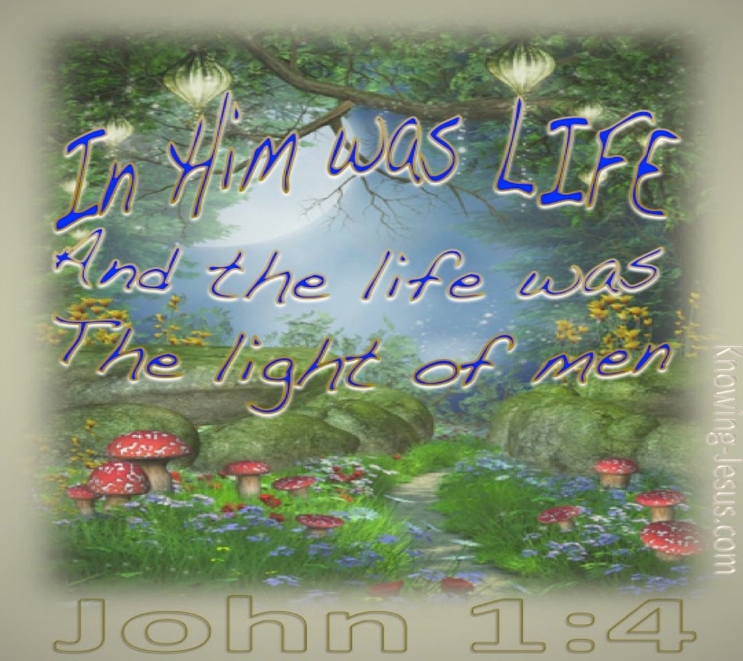 John 1:4 In Him Was Life (beige)