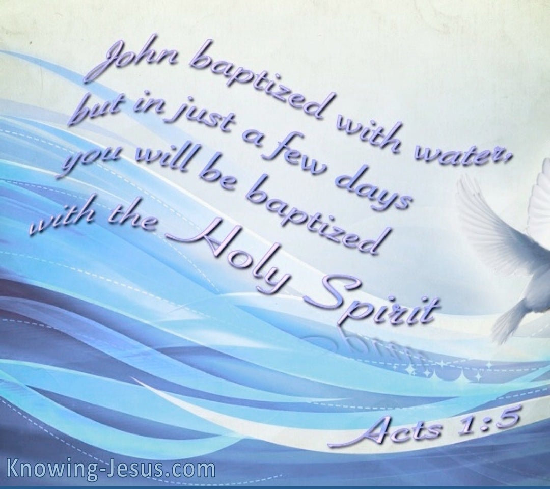 Acts 1:5 Baptised With The Holy Spirit (blue)