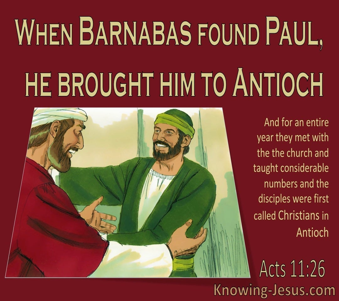 Acts 11:26 Disciples Were First Called Christians In Antioch (red)