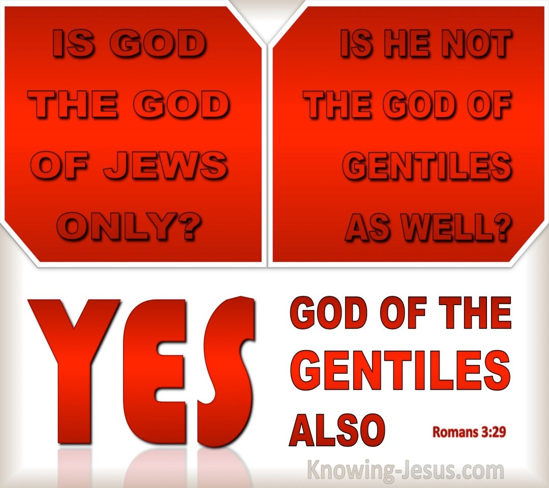 Romans 3:29 God Of The Jews And Gentiles (red)