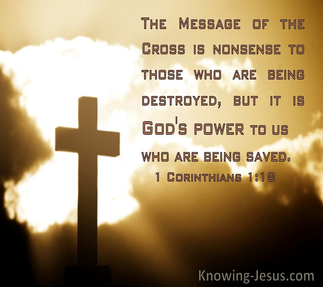 1 Corinthians 1:18 The Message Of The Cross Is Nonsense To Those Who Are Being Destroyed (windows)09:20