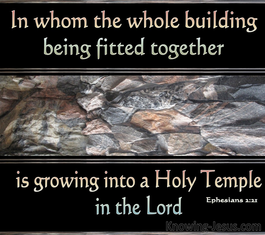 Ephesians 2:21 Growing Into A Holy Temple (black)