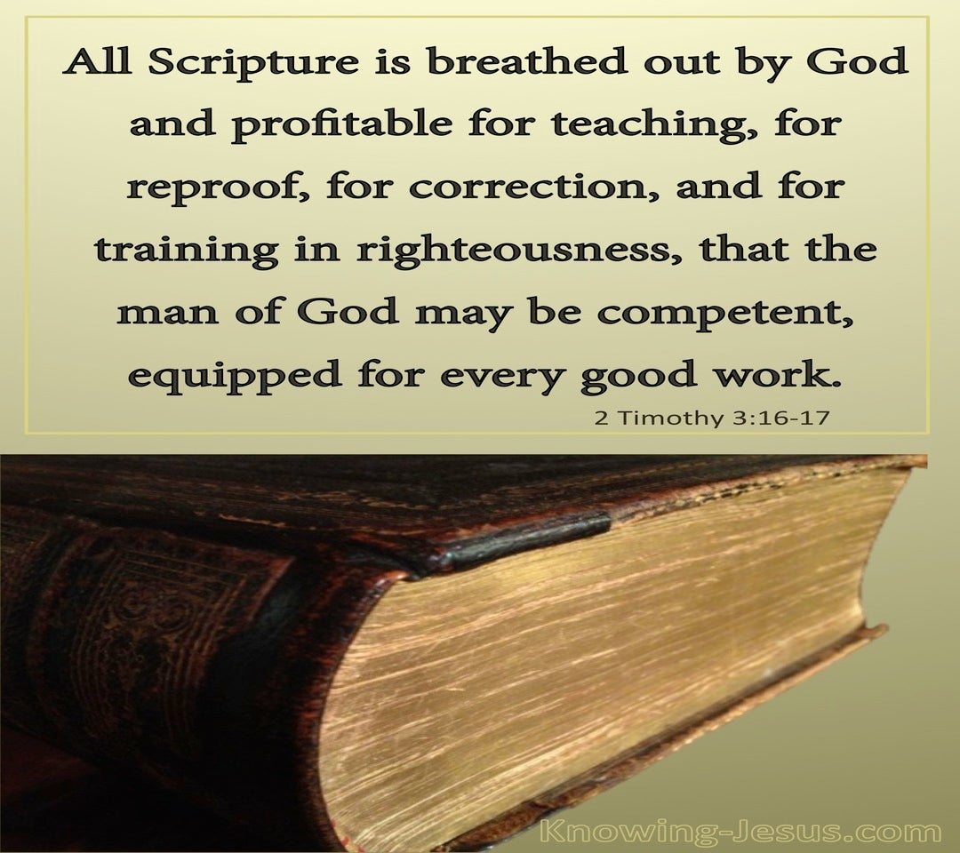 2 Timothy 3:16 All Scripture Is God Breathed (gold)