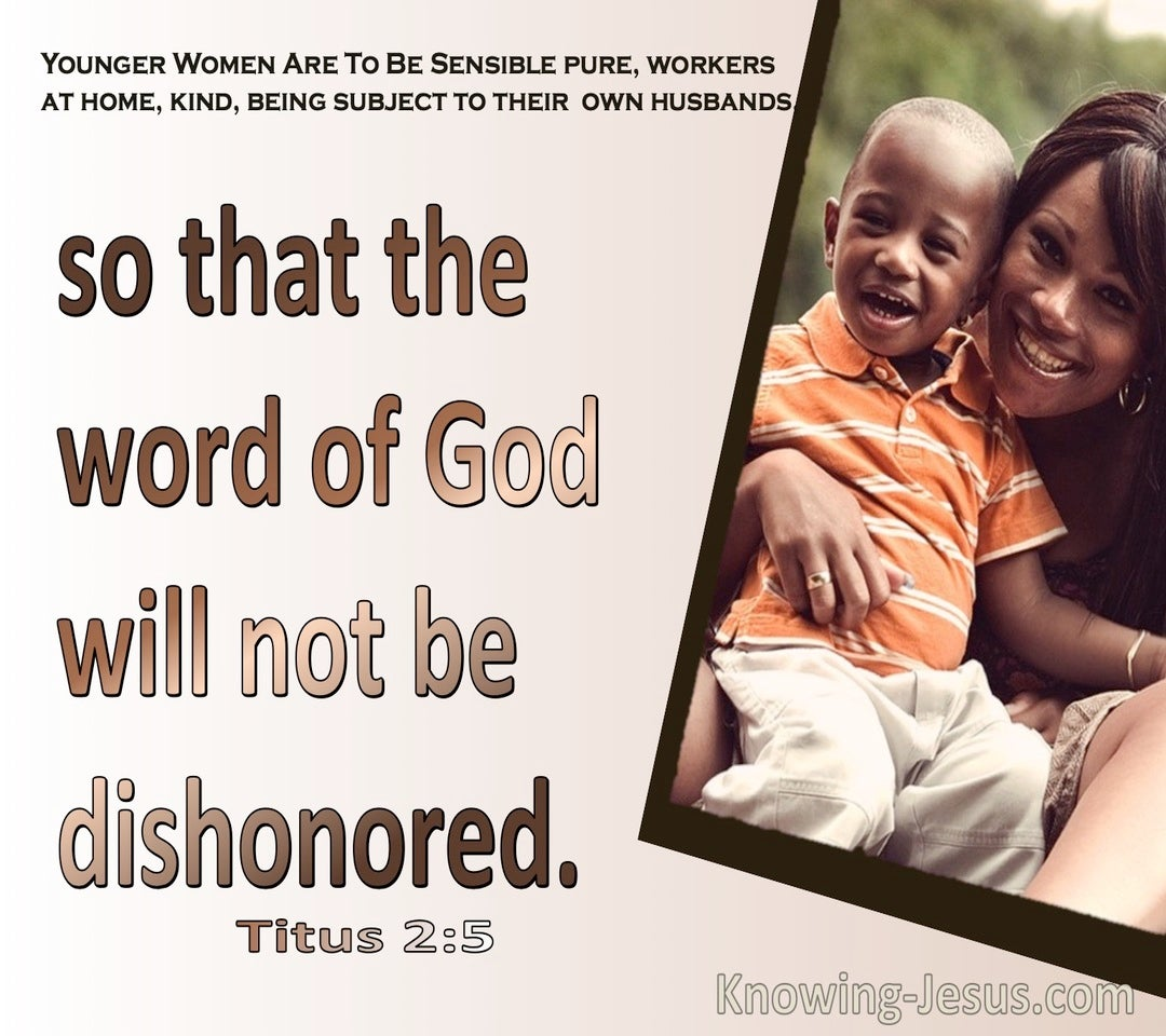 Titus 2:5 So The Word Of God Will Not Be Dishonoured (beige)