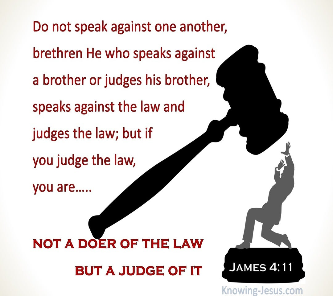 James 4:11 Do Not Speak Against One Another (white)