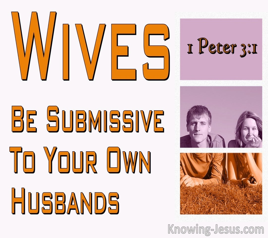 1 Peter 3:1 Wives Be Submissive To Your Own Husbands (pink)