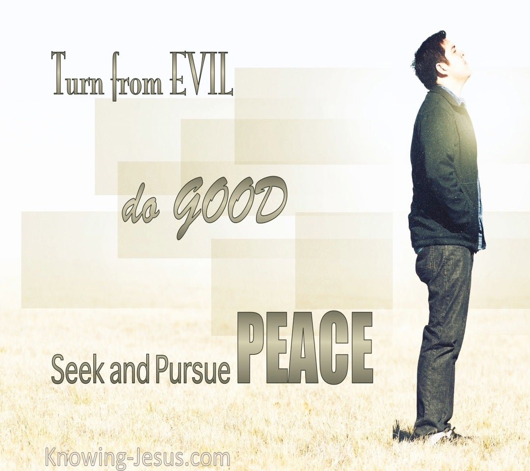1 Peter 3:11 Turn From Evil And Do Good (sage)