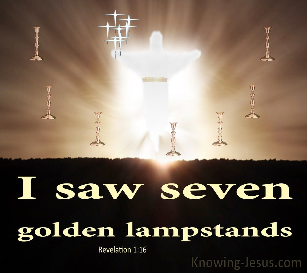 Revelation 1:12 Seven Golden Lampstands (beige)