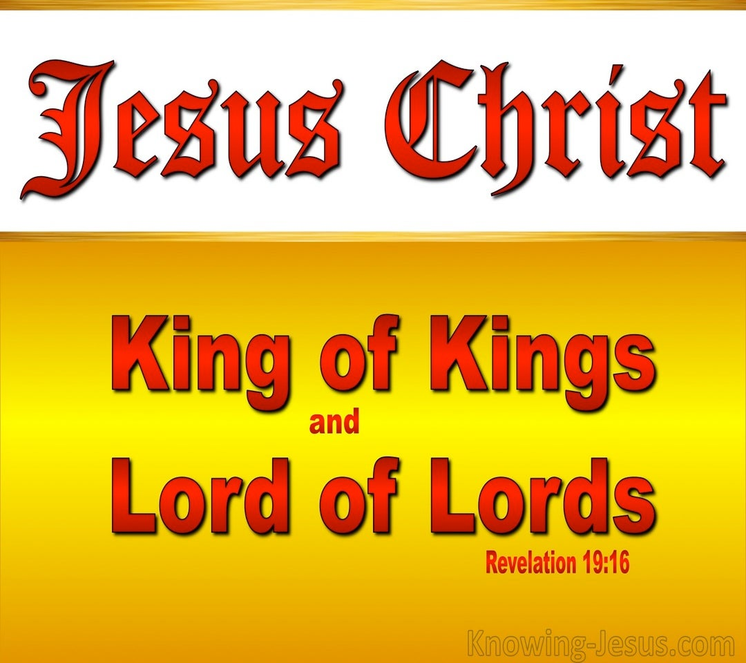 Revelation 19:16 King Of Kings And Lord Of Lords (red)