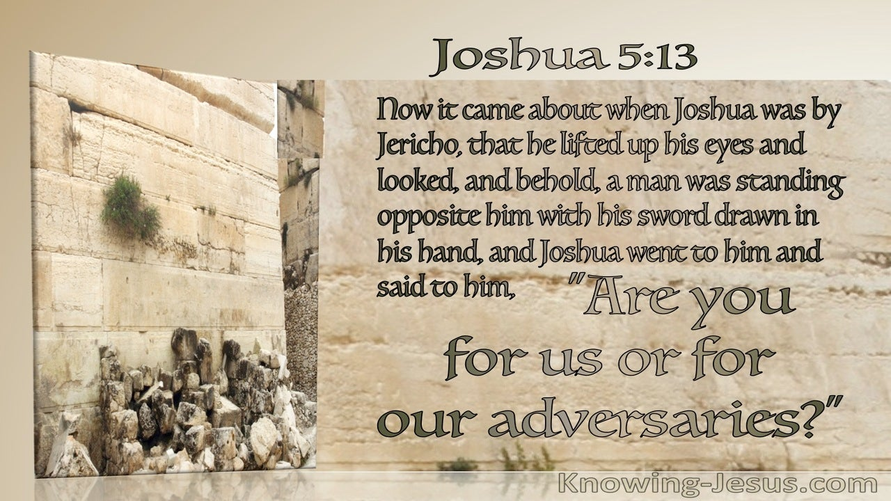 Joshua 5:13 Are Your For Us (beige)