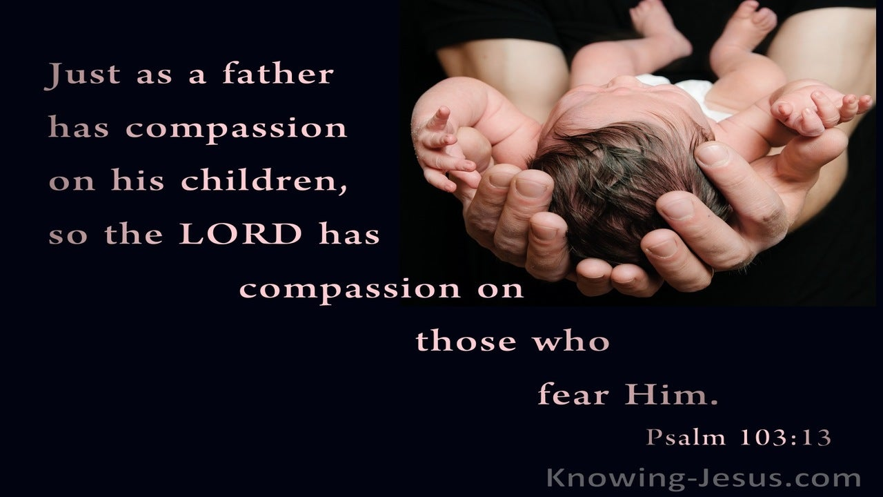 Psalm 103:13 Just as a father has compassion on his children (pink)
