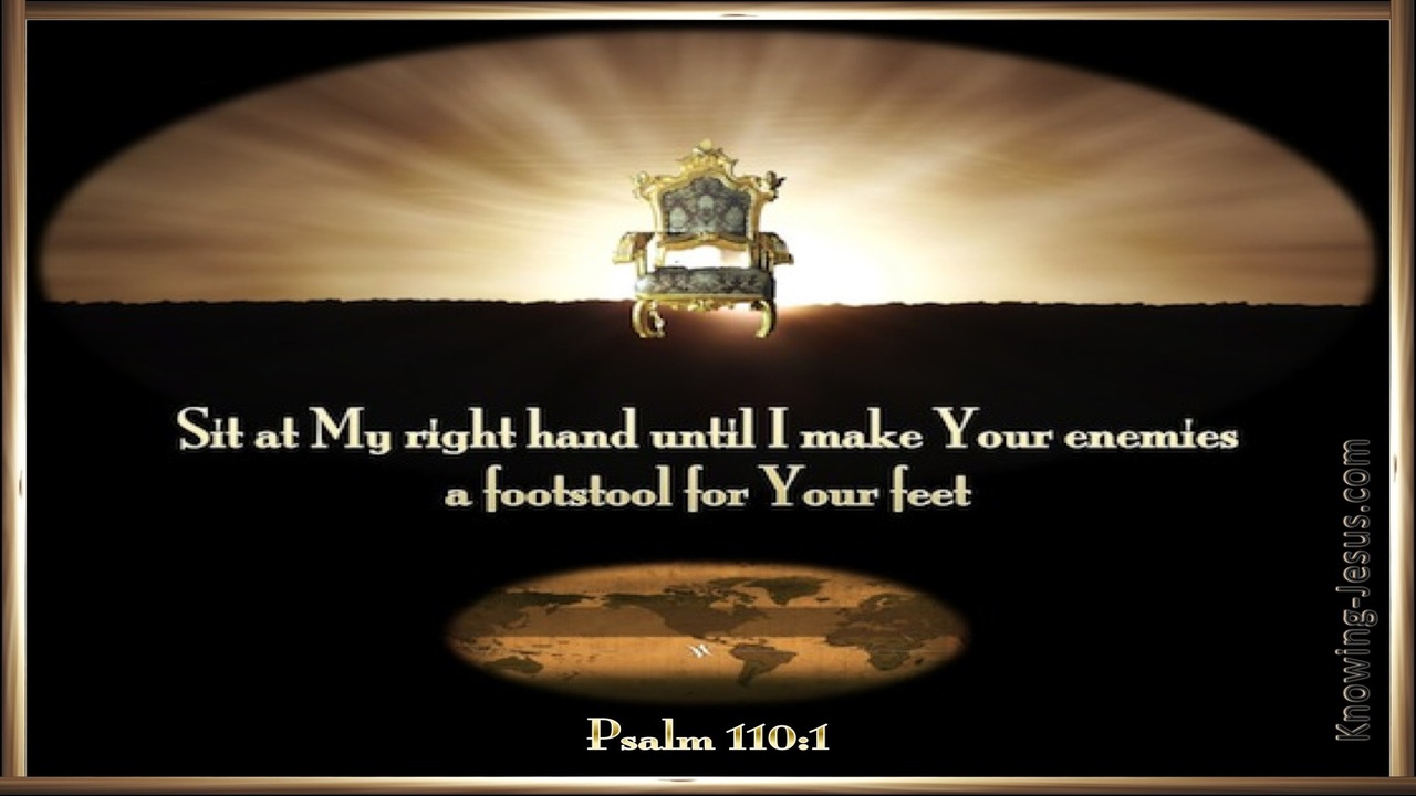 Psalm 110:1 Sit At My Right Hand (brown)