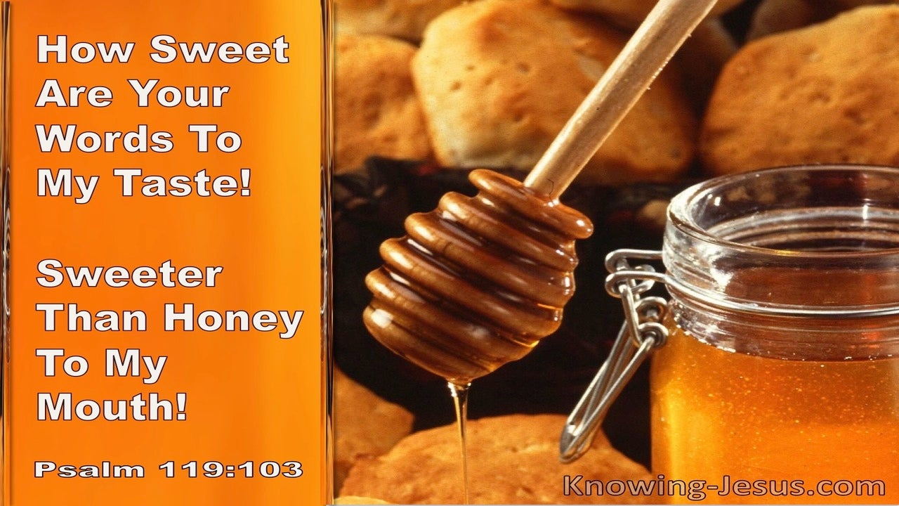 Psalm 119:103 You How Sweet Are Your Words To My Taste Sweeter Than Honey To My mouth (orange)