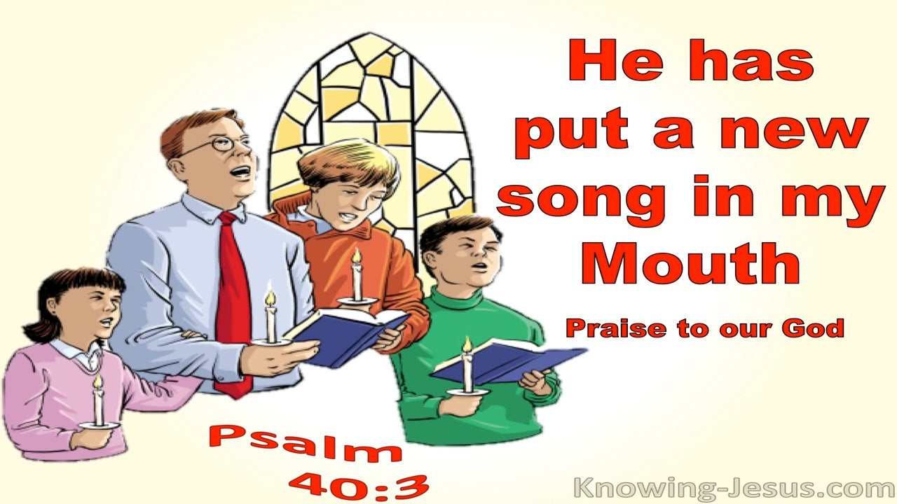 Psalm 40:3 He Has Put A New Song In My Mouth (red)