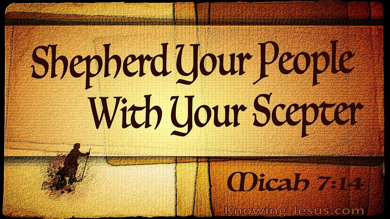 Micah 7:14 Shepherd Your People (beige)