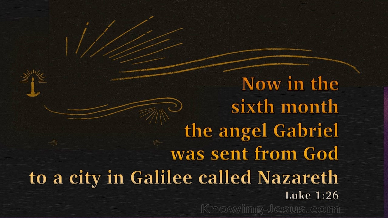 Luke 1:26 The Angel Gabriel Was Sent From God (orange)