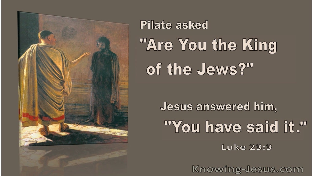 Luke 23:3 They Began To Accuse Him (brown)