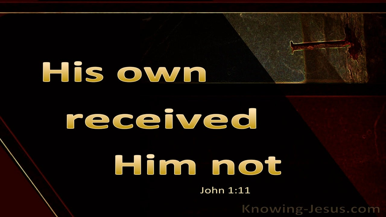 John 1:11 His Own Received Him Not (gold)