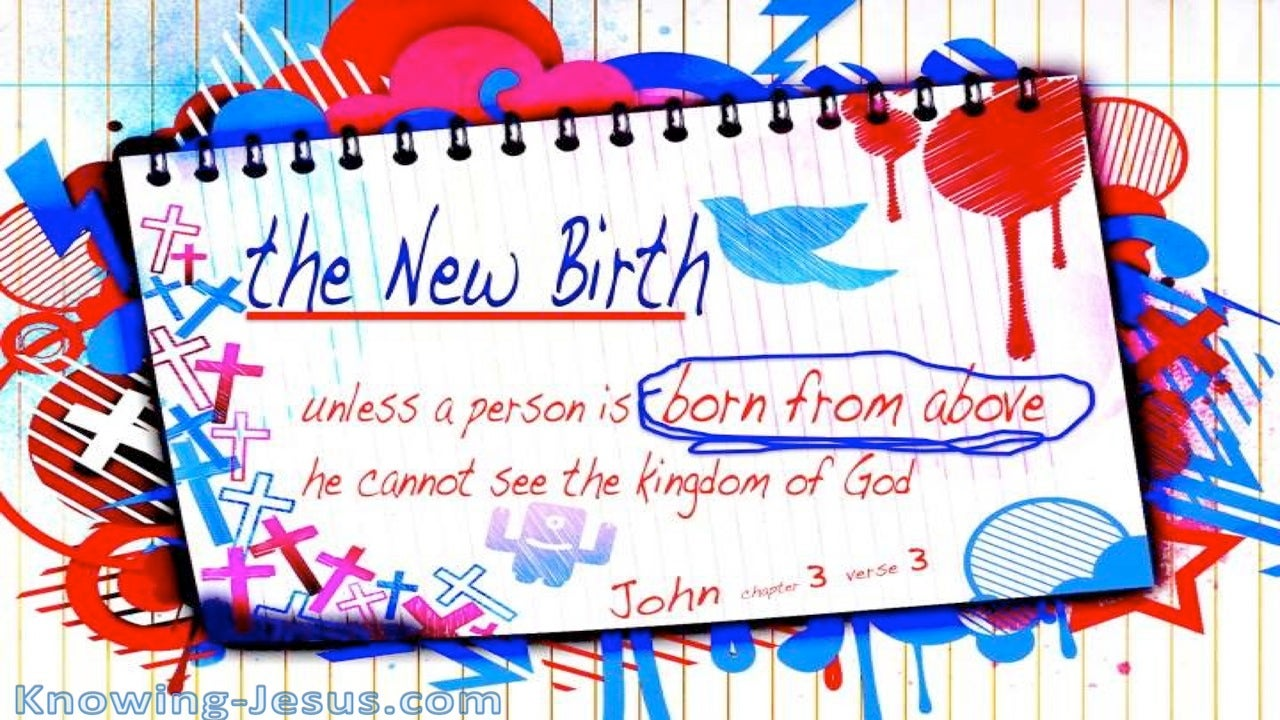 John 3:3 You Must Be Born From Above (blue)