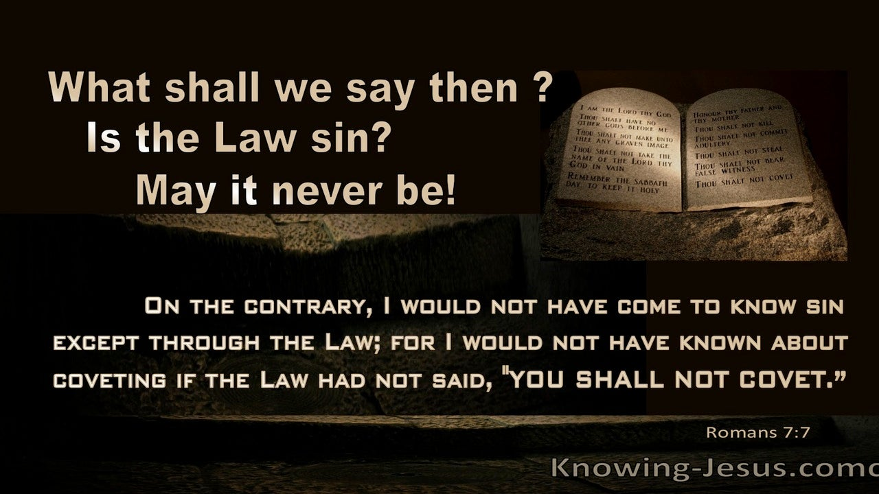 Romans 7:7 Is The Law Sin : May It Never Be (black)