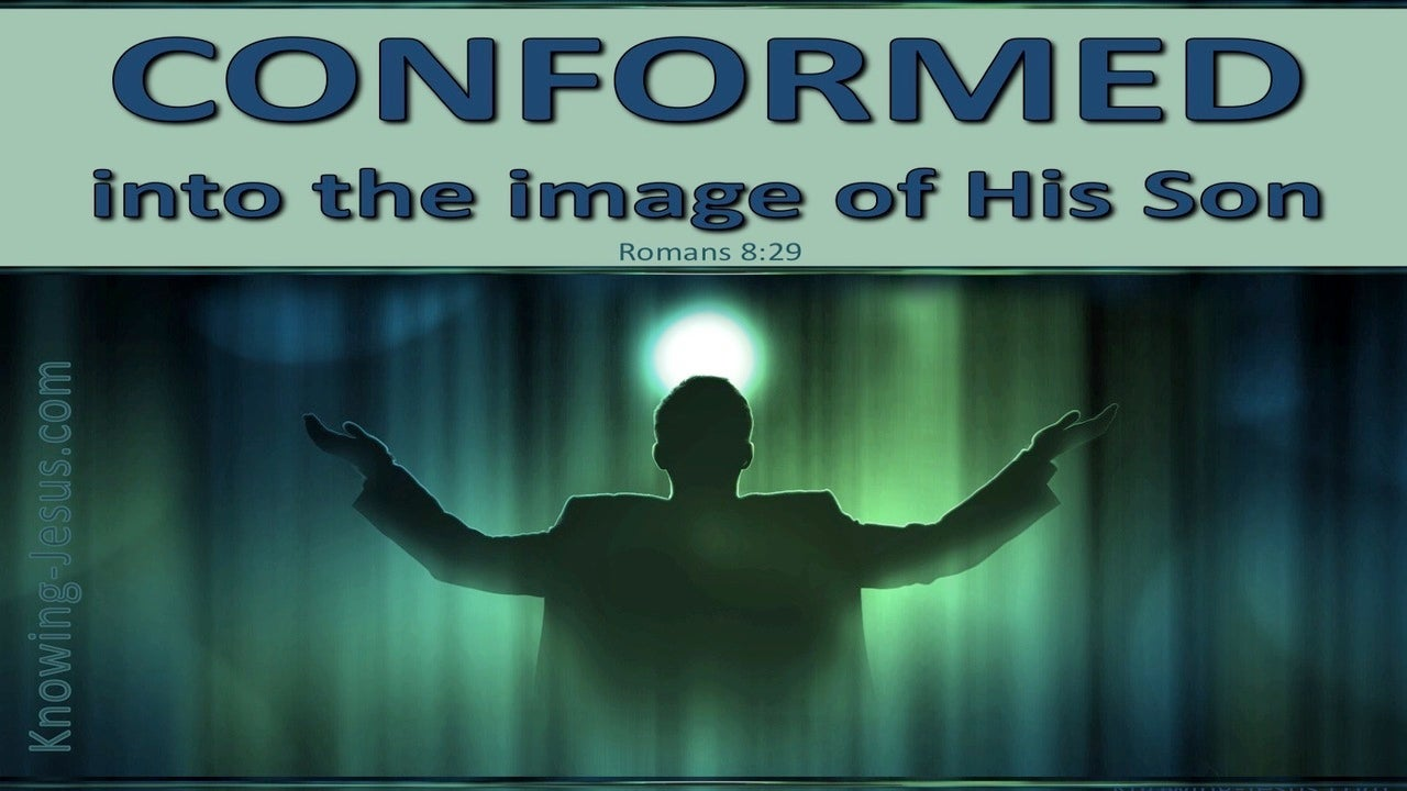 Romans 8:29 Conformed Into The Image Of Christ (aqua)