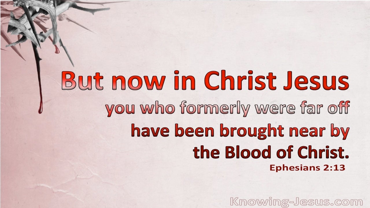 Ephesians 2:13 Brought Near By The Blood Of Christ (pink)