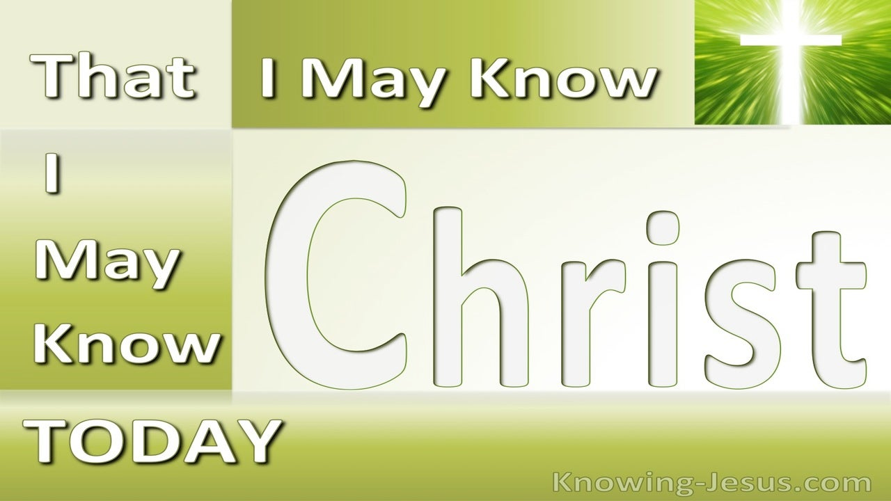 Today (devotional) (green) - Philippians 3:10