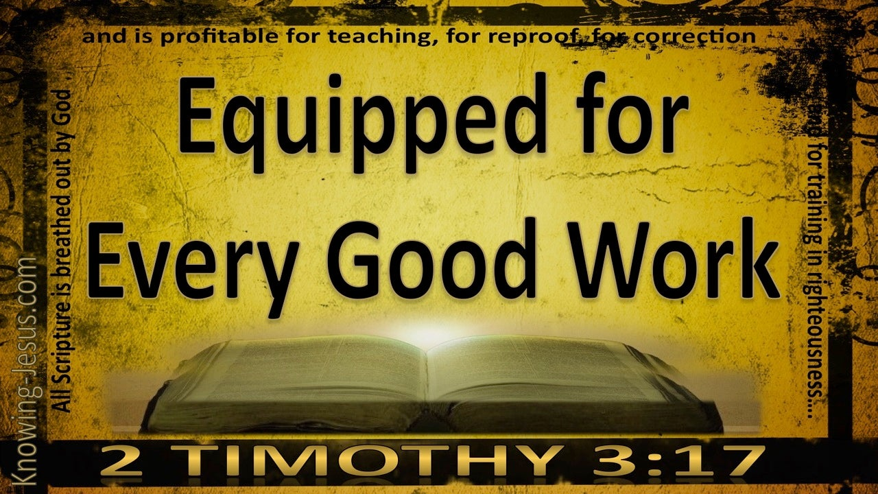 2 Timothy 3:17 That The Man Of God May Be Fully Equipped (black)