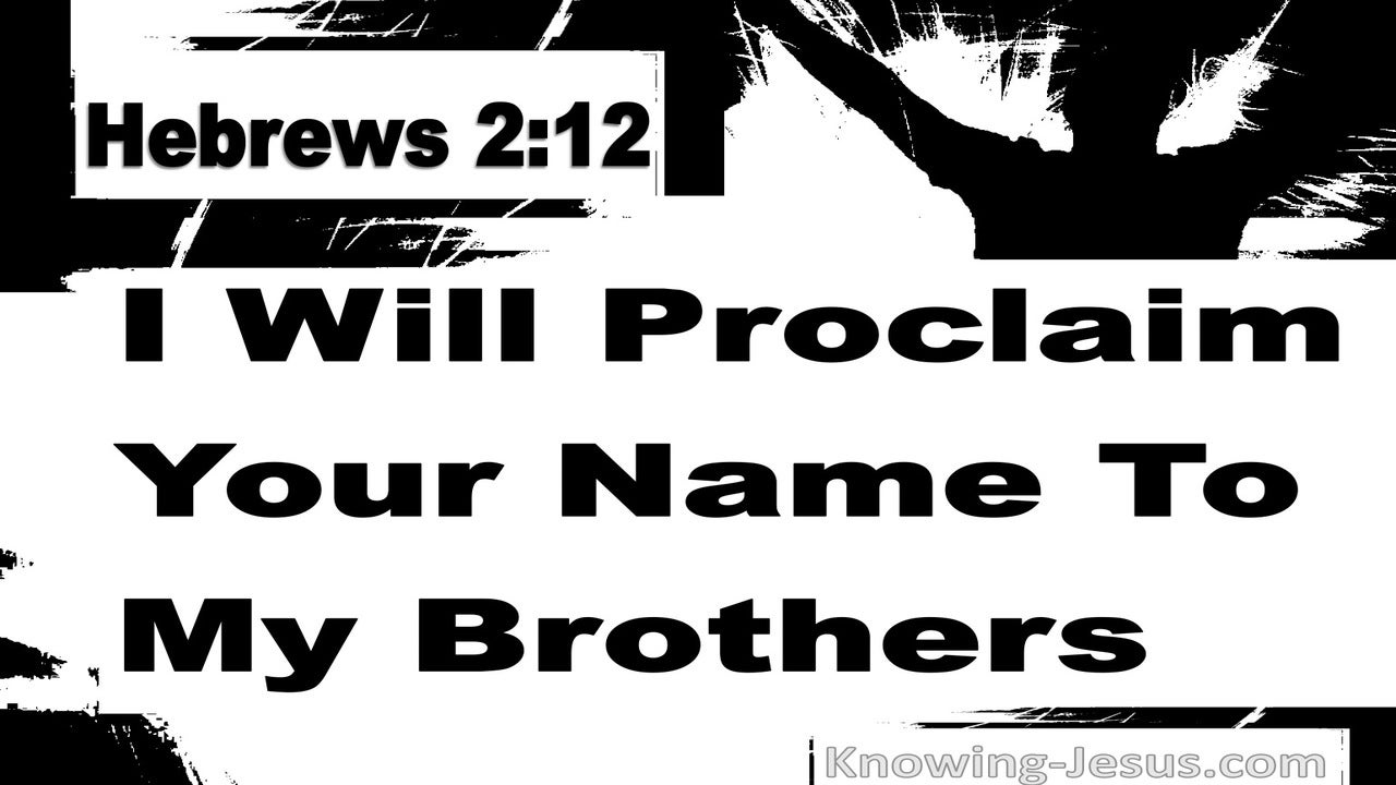 Hebrews 2:12 Proclaim Your Name To My Brothers (black)