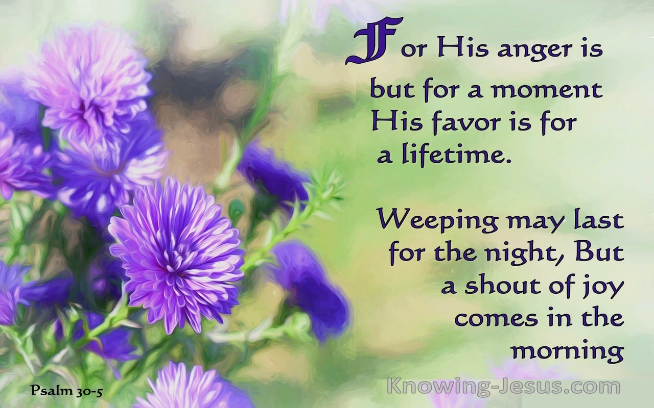 Psalm 30:5 Sorrow to Joy (devotional)01:25 (purple)