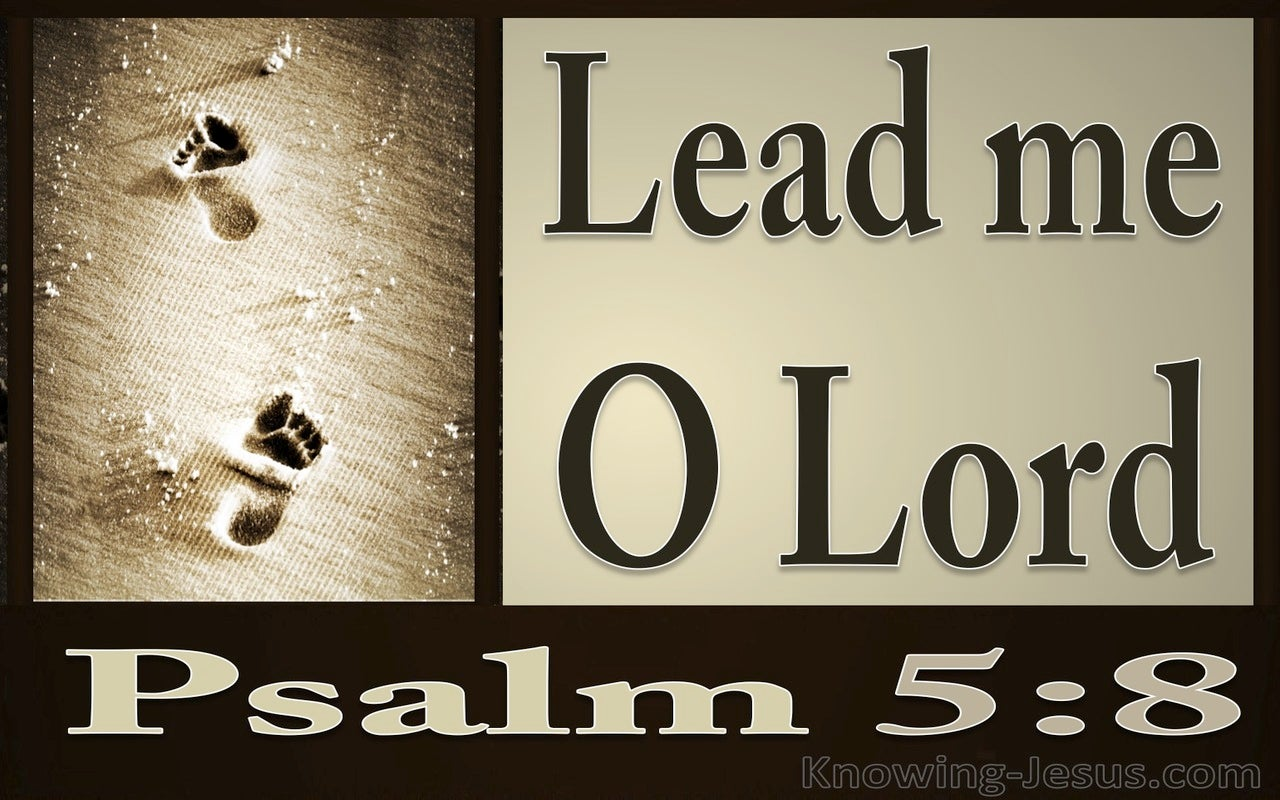 Psalm 5:8 Lead Me O Lord (brown)
