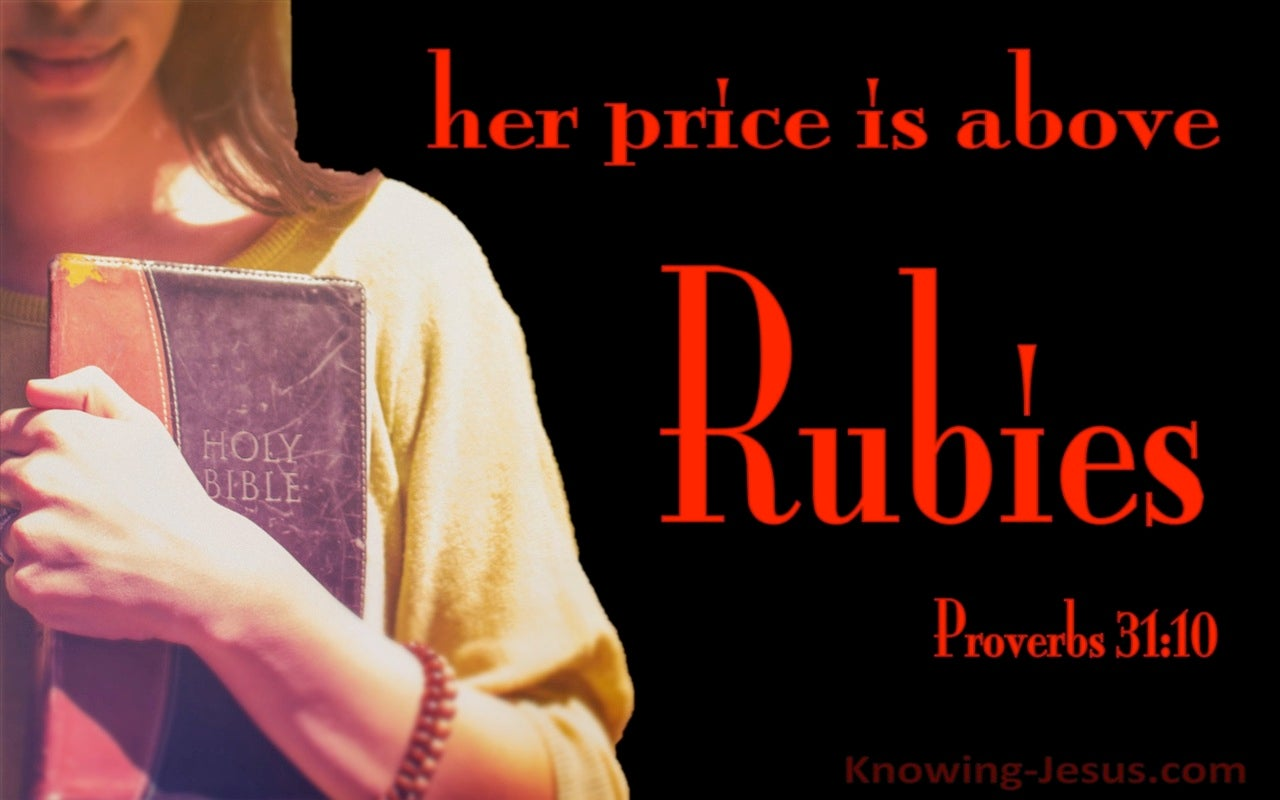 Proverbs 31:10 Who Can Find A Virtuous Woman (red)