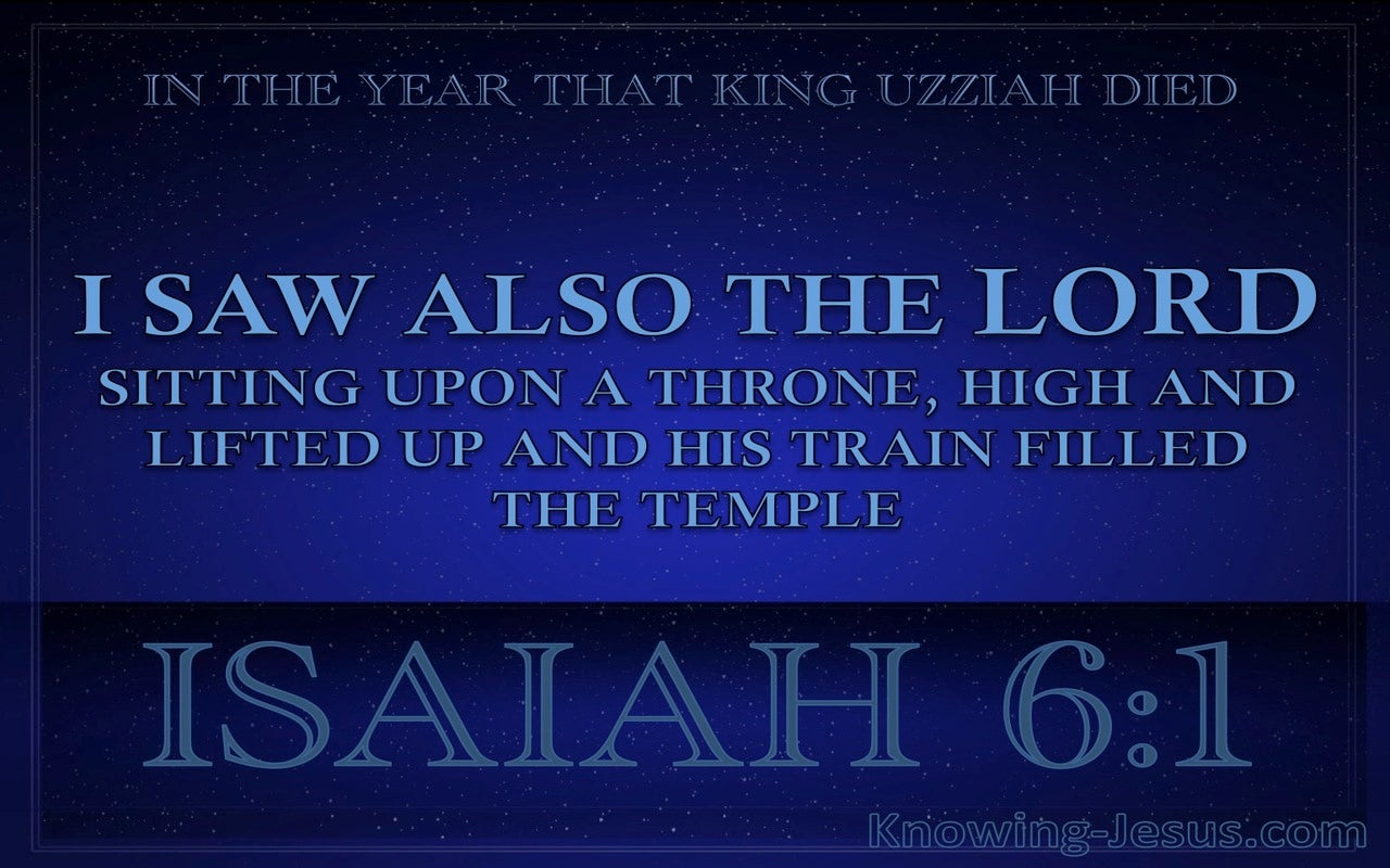 Isaiah 6:1 The Lord Sitting Upon A Throne (blue)