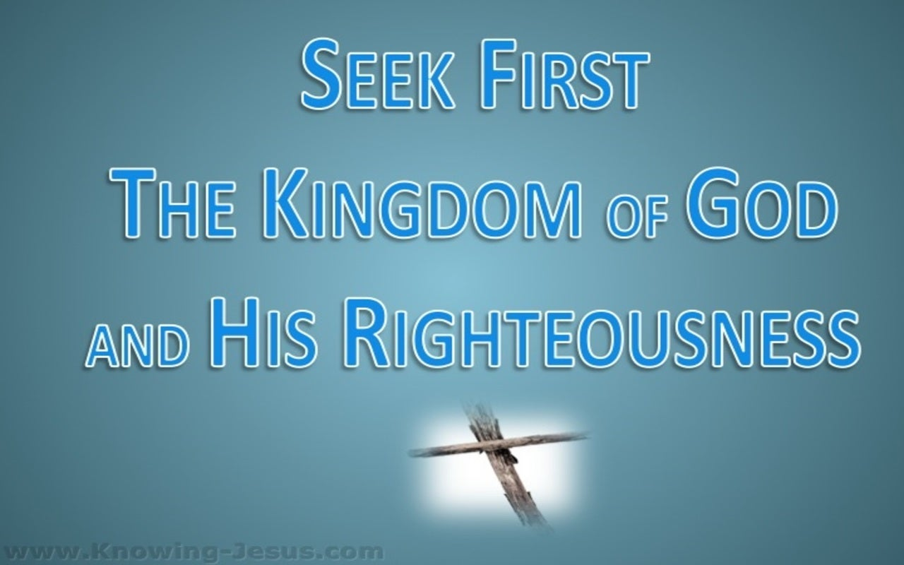 Matthew 6:33 Seek First The Kingdom (blue)