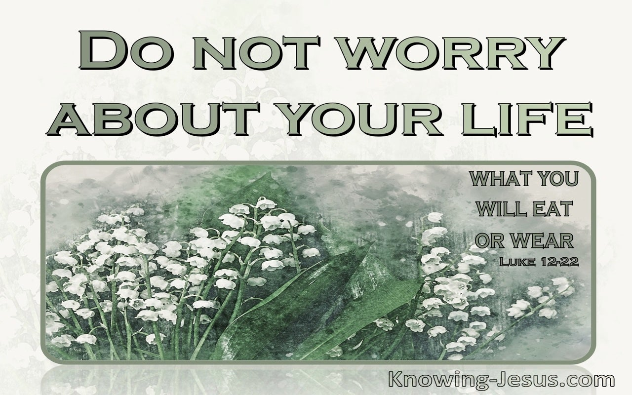 Luke 12:22 Do Not Worry About Your Life (sage)