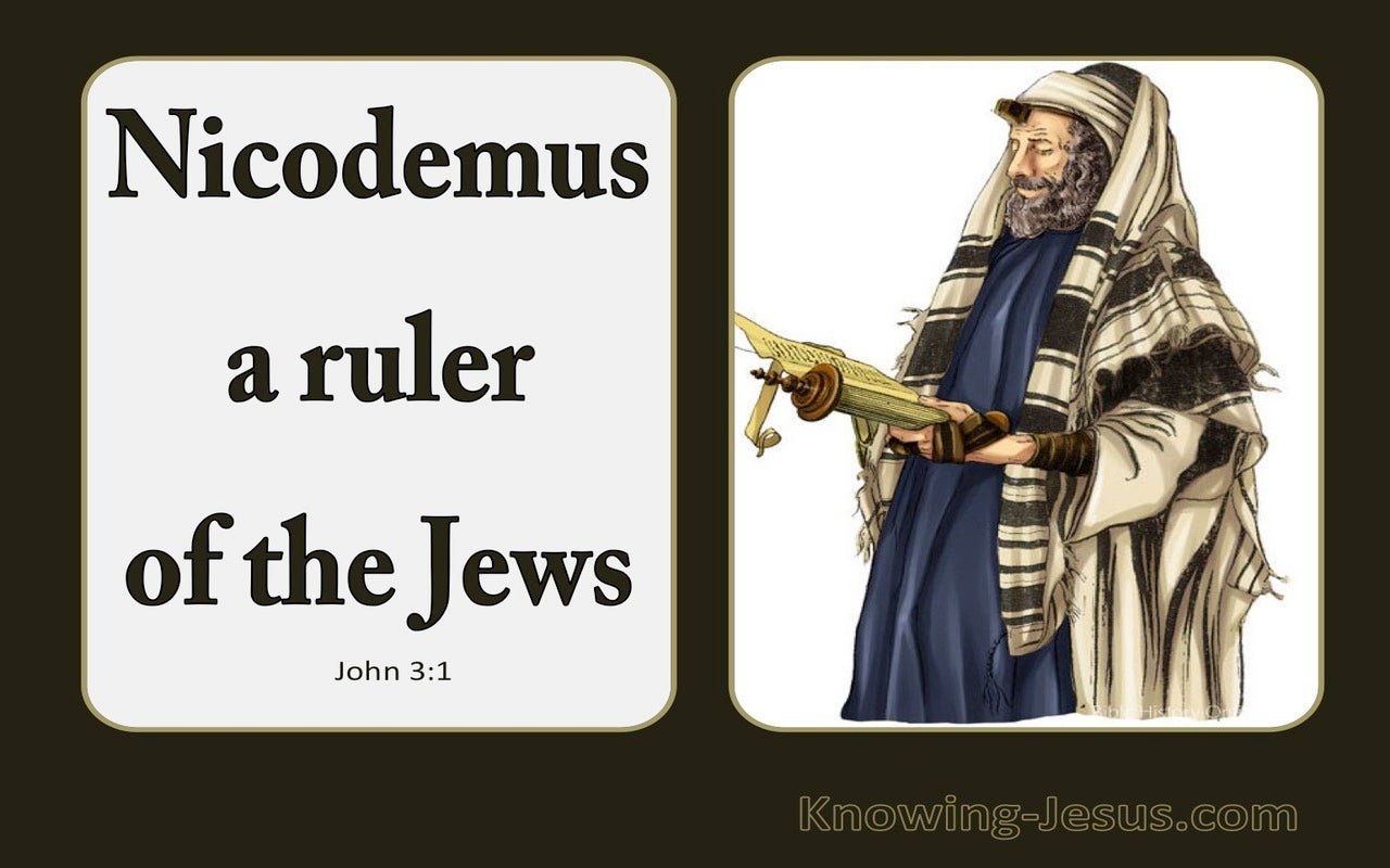 John 3:1 Now There Was A Man Named Nicodemus (white)