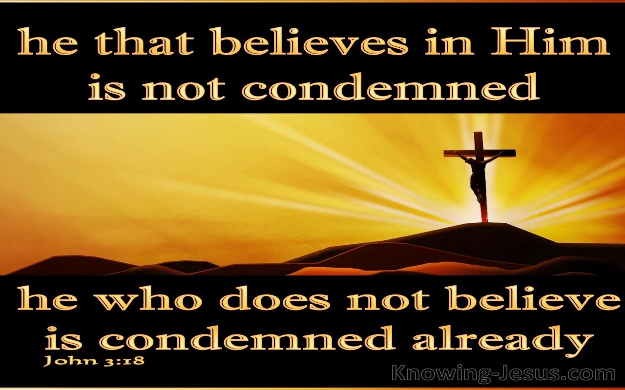 John 3:18 He That Believes Is Not Condemned (gold)