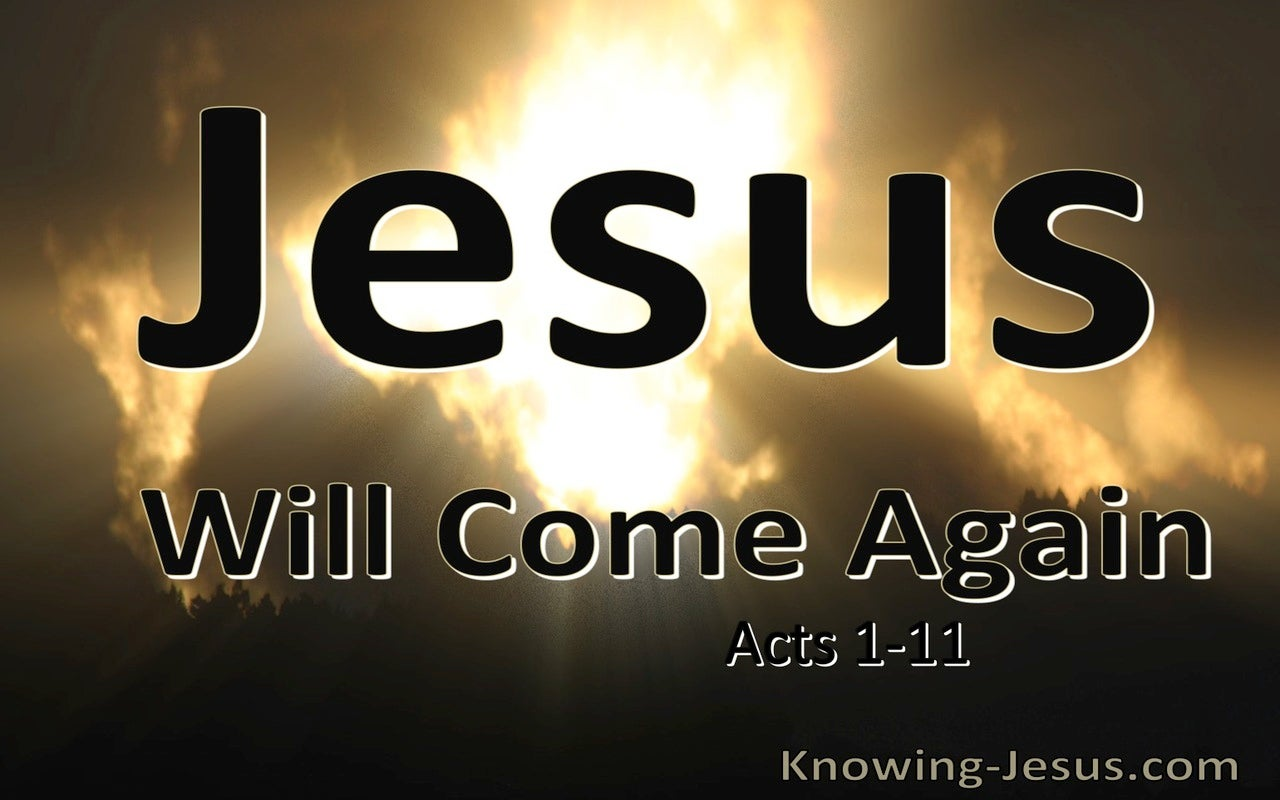 Acts 1:11 Jesus Will Come Again (brown)