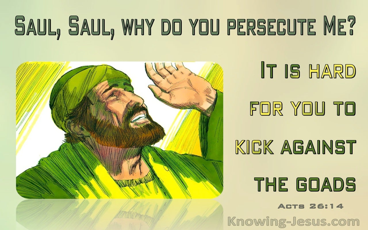 Acts 26:14 Saul, Saul Why Are You Persecuting Me (green)