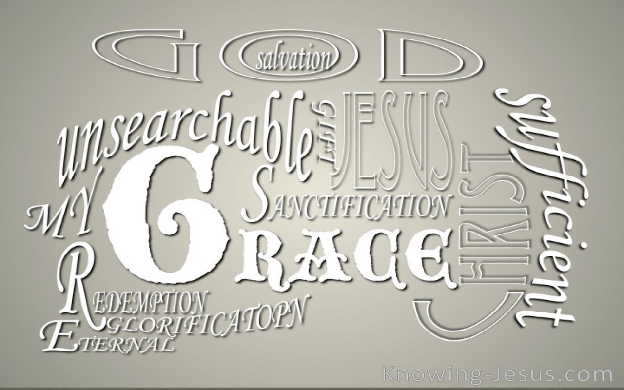 God's Glorious Grace (white)