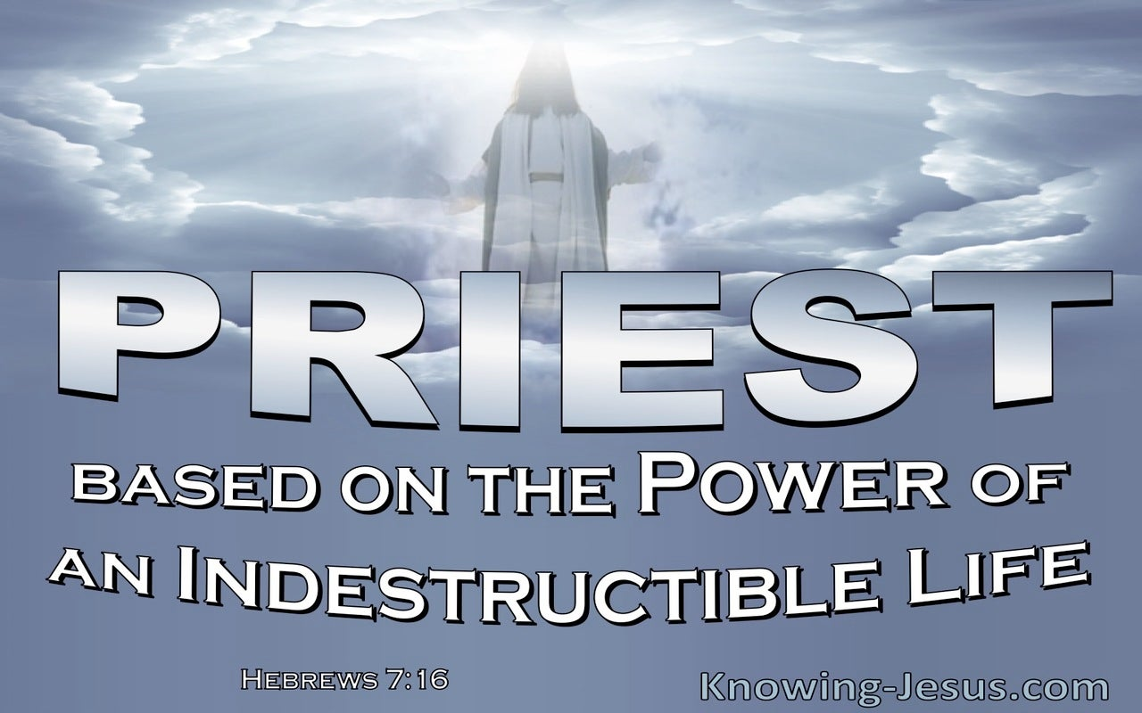 Hebrews 7:16 The Power Of An Indestructible Life (blue)
