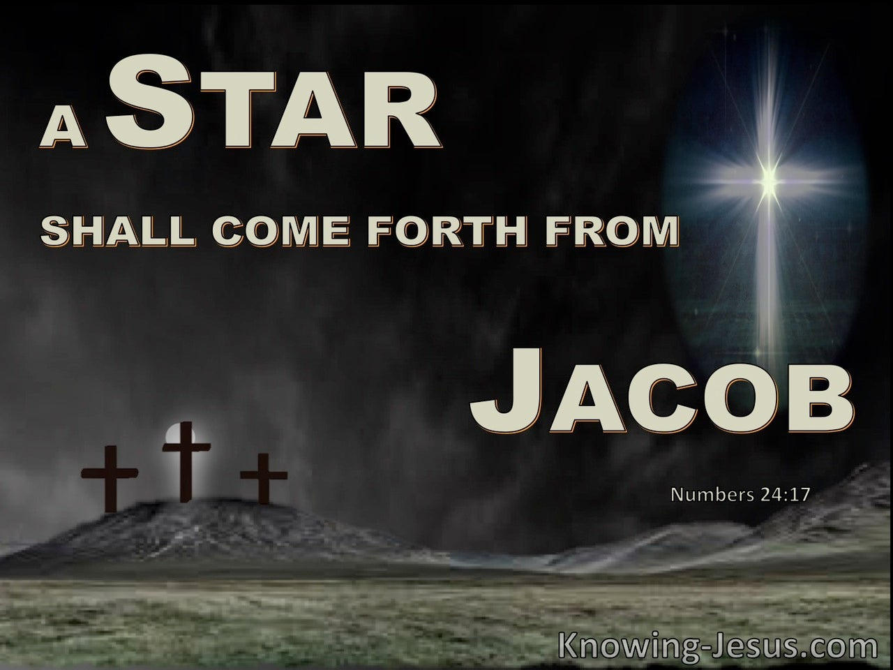 Numbers 24:17 A Star Will Rise from Jacob And A Scepter From Israel (sage)