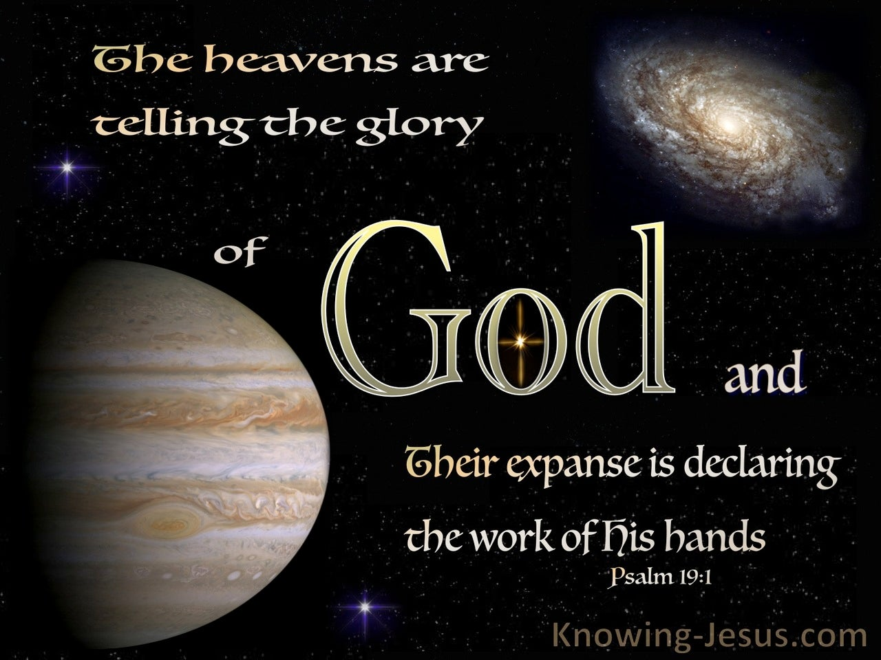 Psalm 19:1 The Heavens Are Telling The Glory Of God (beige)