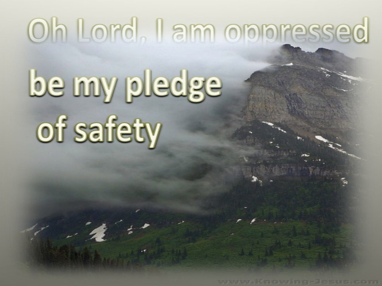 Isaiah 38:14 Be My Pledge Of Safety (beige)