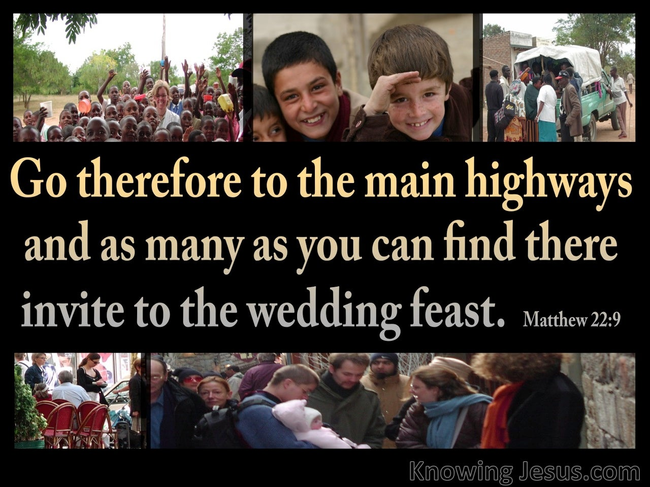 Matthew 22:9 Invitation To The Wedding Feast (black)