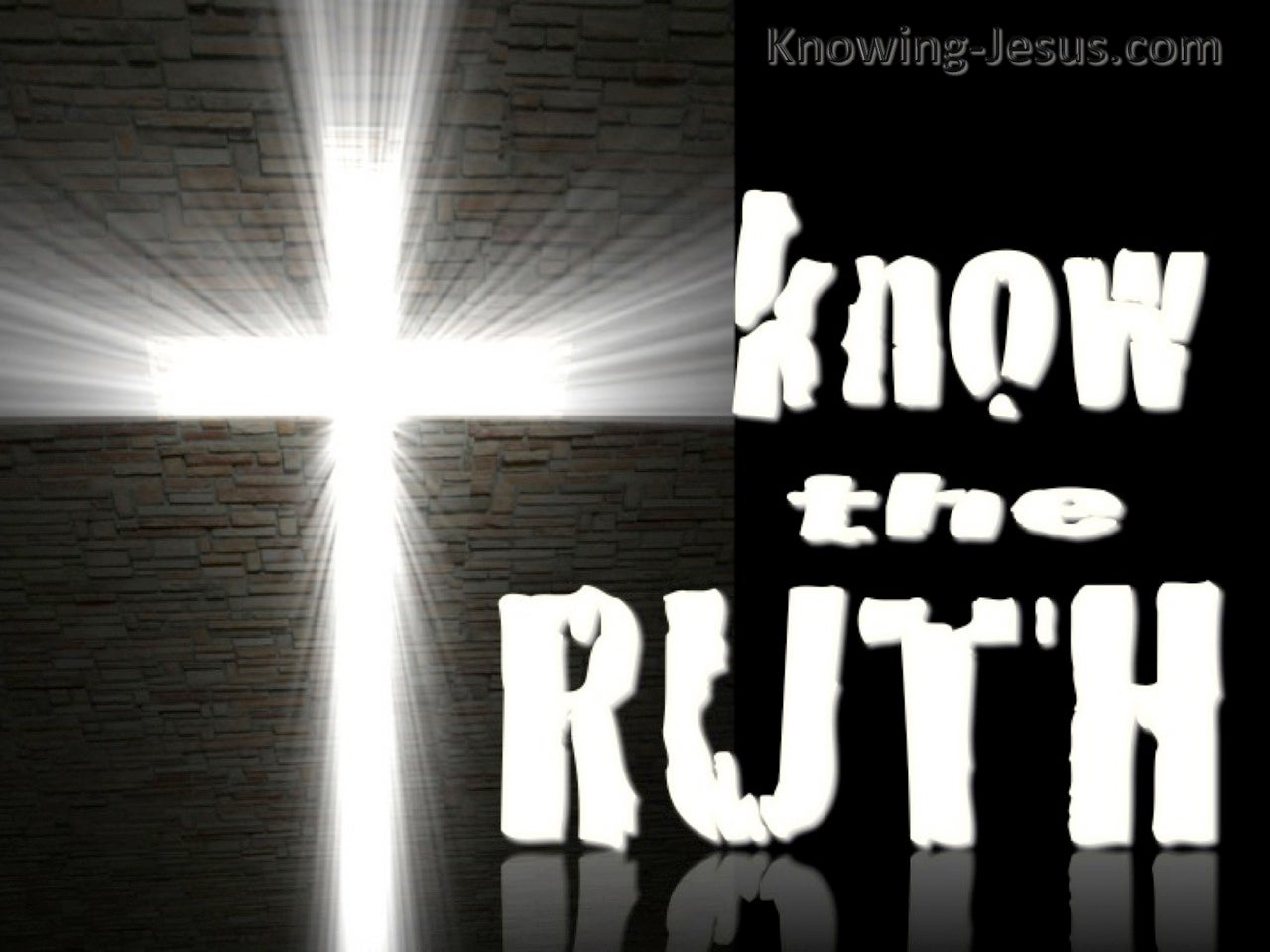 Know The Truth (devotional) (black) - 1 John 3:19